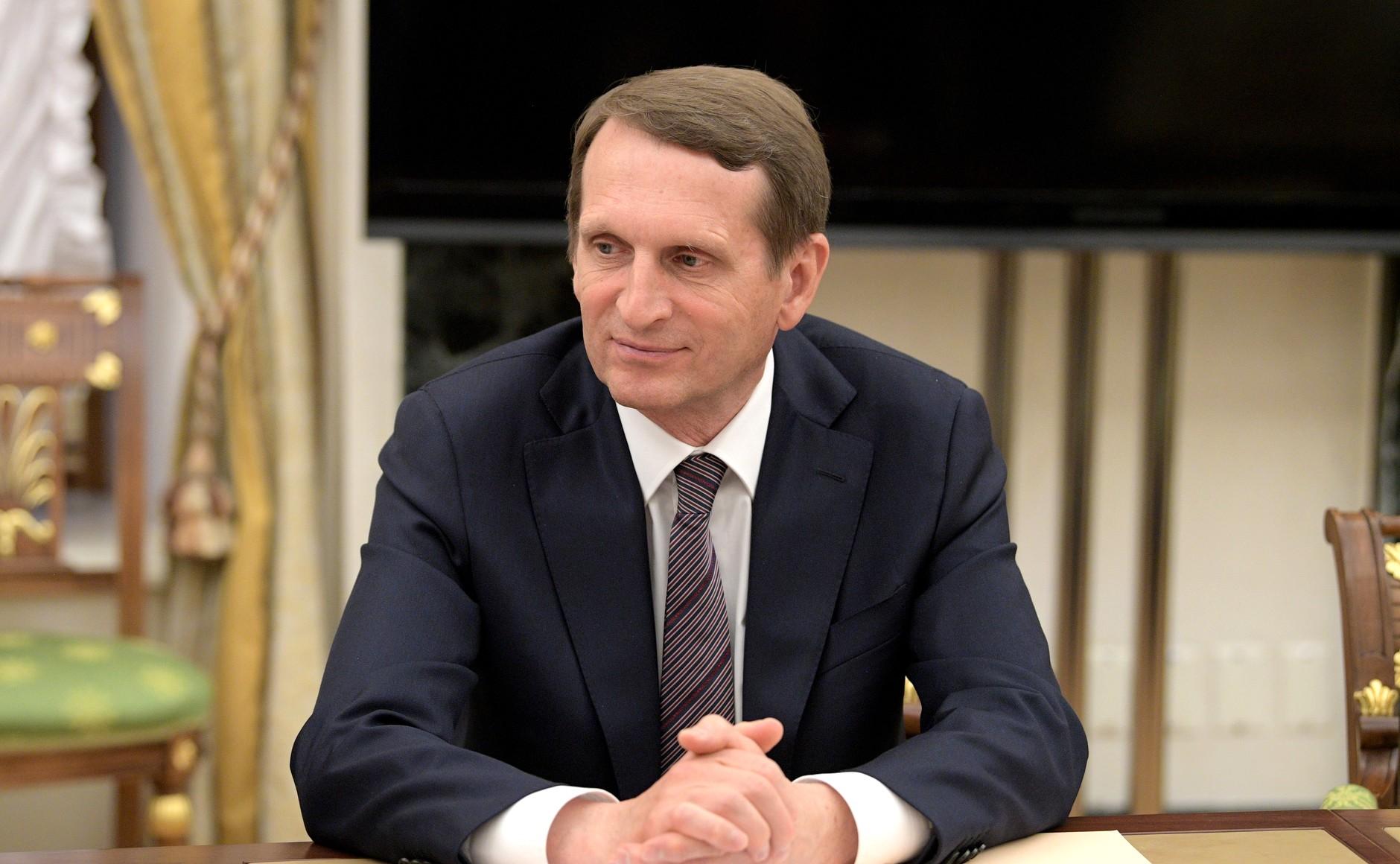 Нарышкин назвал высылку дипломатов РФ «грязной провокацией»