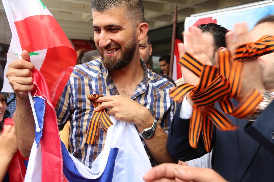 В Сирии прошла акция «Георгиевская ленточка»