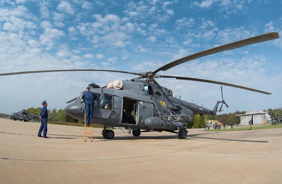 Боевые вертолеты над  Москвой