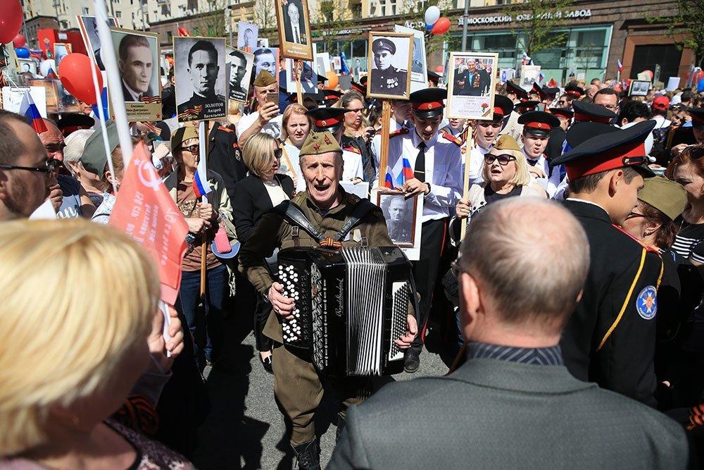 Больше миллиона  москвичей вышли на акцию «Бессмертный полк»