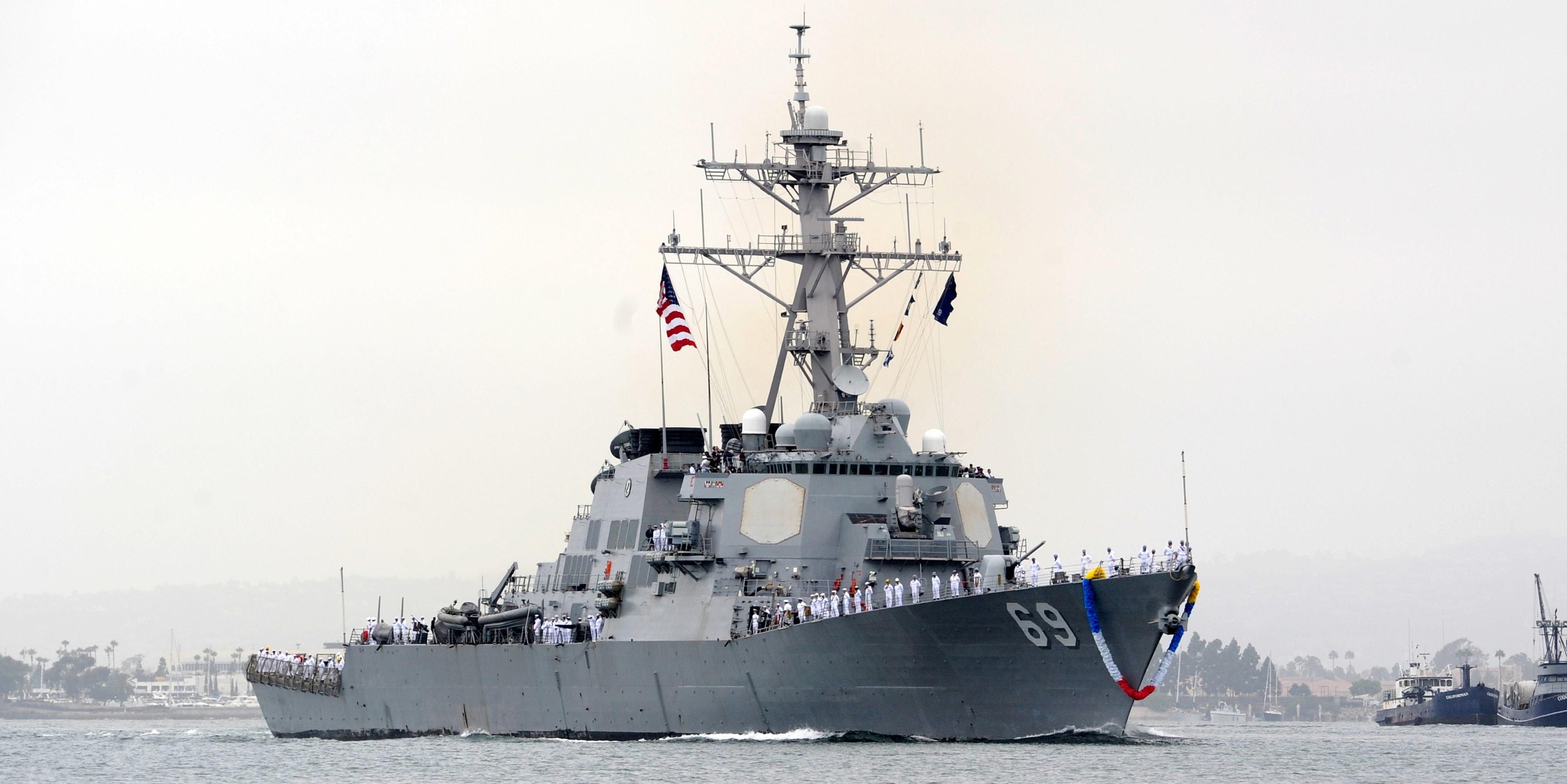 Эсминец USS Milius усилил флот США у берегов Японии