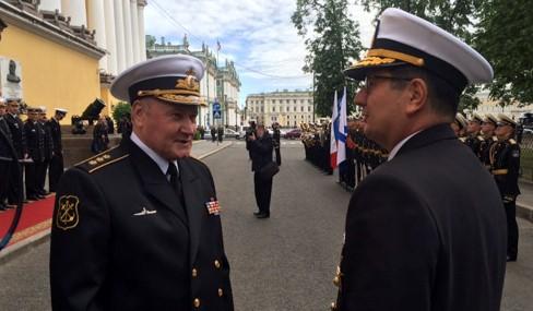 Командующий ВМС Турции прибыл с визитом в Петербург