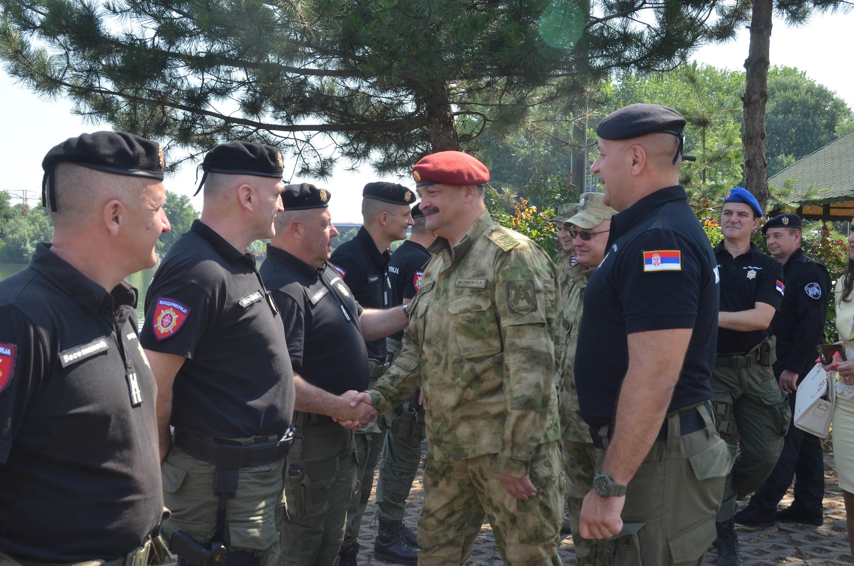Представители Росгвардии обменялись опытом с коллегами в Сербии