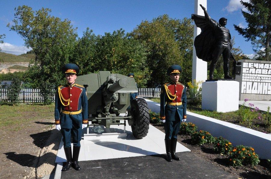 Мемориал с уникальным памятником-орудием